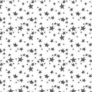 stars // charcoal and white nursery fabric stars white and grey design andrea lauren fabric (ultra tiny)