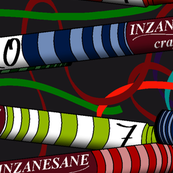 Inzanesane Crayon Man Licking crayons on Charcoal HUGE
