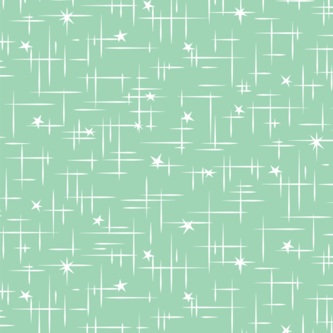Cocktail sticks seafoam fabric by tuppencehapenny on Spoonflower - custom fabric