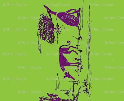 "Bush_hounds1_Purple on lime_for_2""_collars"