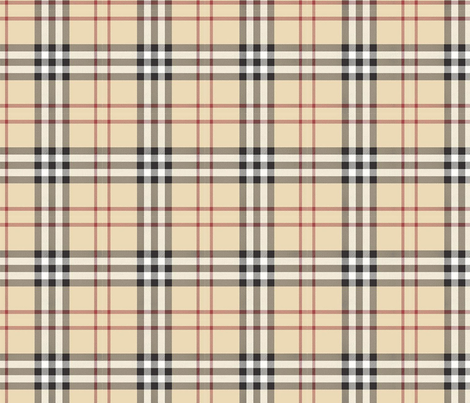 British Plaid Large Scale fabric by fluffycloudcouture on Spoonflower - custom fabric