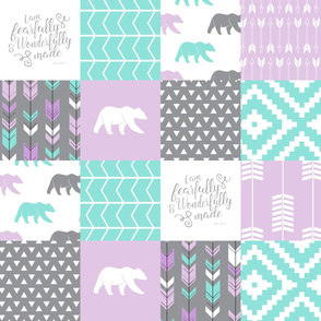 fearfully and wonderfully made patchwork - purple