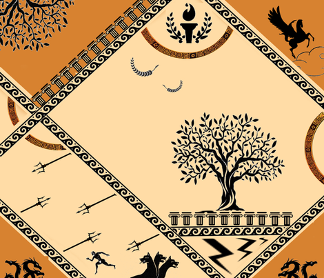 greek legends fabric by nalaxcollection on Spoonflower - custom fabric