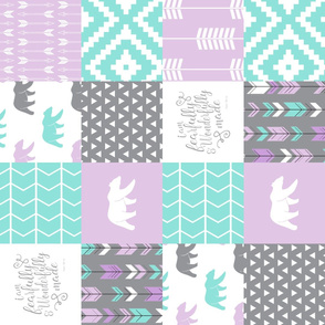 fearfully and wonderfully made patchwork - purple (90)