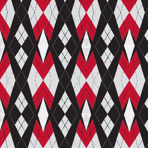 Red and Black Argyle