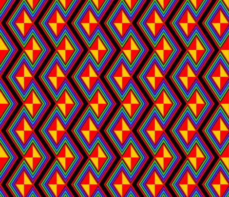Rainbow Zaggity fabric by hannafate on Spoonflower - custom fabric
