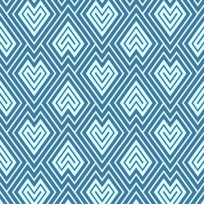 Kilim scales in blue tones