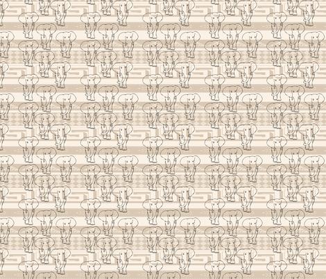 Elephants fabric by twix on Spoonflower - custom fabric