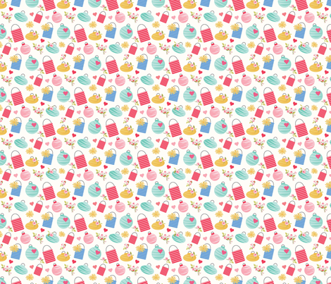 Lanterns fabric by julie_nutting on Spoonflower - custom fabric