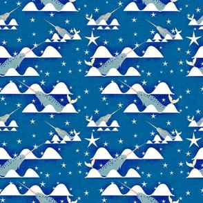 sea unicorn blue