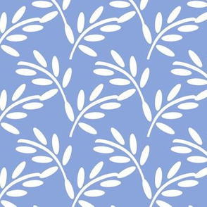 White Leaves on Periwinkle, Breezy Botanicals