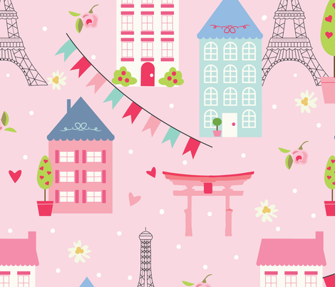 Town Houses fabric by julie_nutting on Spoonflower - custom fabric