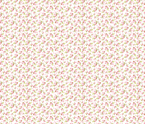 Pink Floral fabric by julie_nutting on Spoonflower - custom fabric