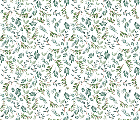 "21"" Wild at Heart Branches / White fabric by shopcabin on Spoonflower - custom fabric"
