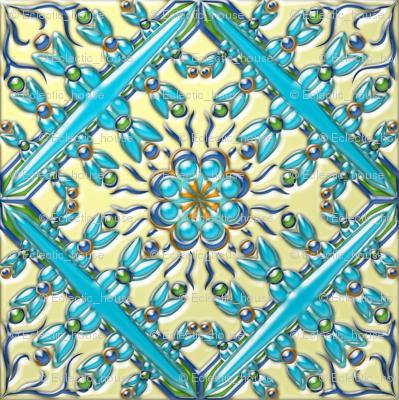 Spanish Tile 4 3-D