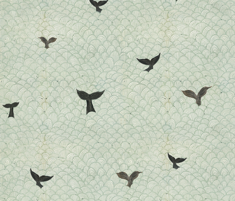 whale rider tails fabric by katherine_quinn on Spoonflower - custom fabric