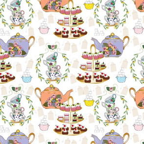 A Spoonful of Sugar for HoPE, Tea Fabric, Tea Time, Tea Party
