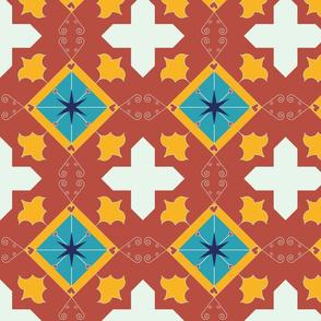 Spanish Tile Crosses