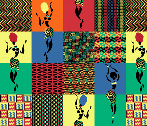 African Art fabric by fabric_rocks on Spoonflower - custom fabric