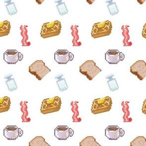 Bacon and Pancake Pixel Art