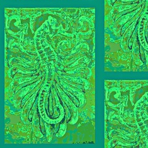 Fantasy Seahorse-teal/aqua