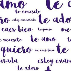 Spanish Loves in Blue-Violet