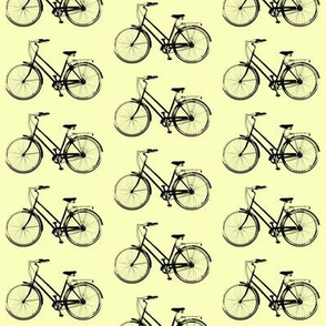 Retro Bicycle // Pale Yellow