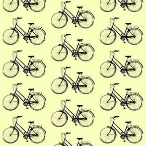 Retro Bicycle // Pale Yellow
