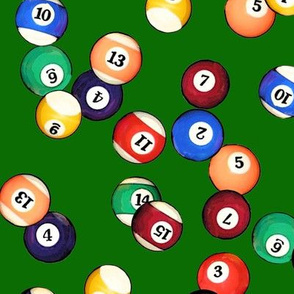 Billiard Balls on Felt // Large