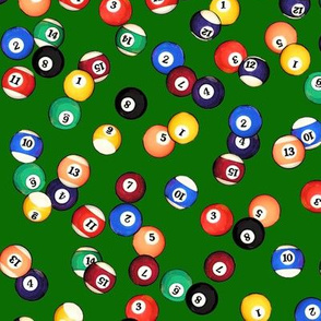 Billiards Balls on Felt // Small