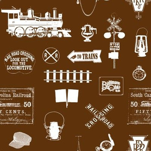 Railroad Symbols - Brown // Small