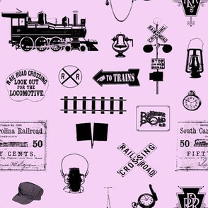 Railroad Symbols - Pink // Small