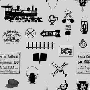 Railroad Symbols - Light Grey // Small