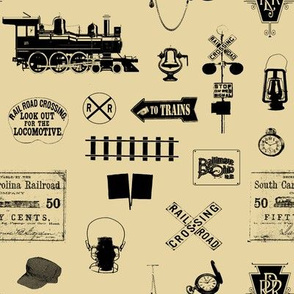 Railroad Symbols - Tan // Small