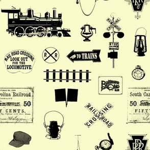 Railroad Symbols - Parchment // Small