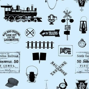 Railroad Symbols - Light Blue // Small