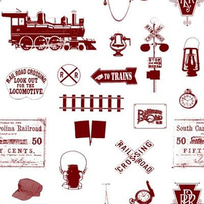 Maroon Railroad Symbols // Small