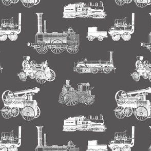 Antique Steam Engines on Charcoal // Large