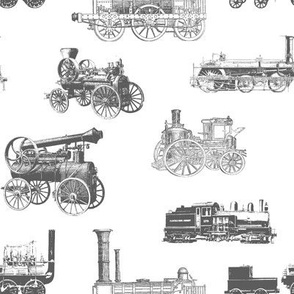 Antique Engines on Grey // Large