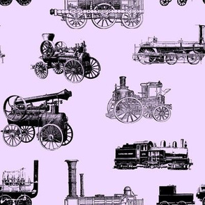 Antique Engines on Lavender // Large