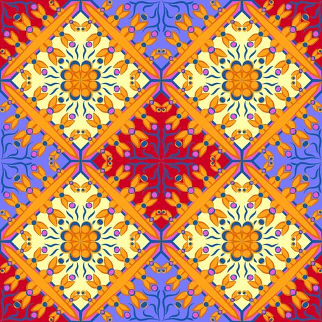 Spanish Tile 6 fabric by eclectic_house on Spoonflower - custom fabric