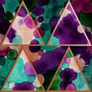 Bohemian Triangles Watercolor (color 2)