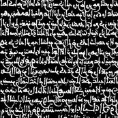 Ancient Arabic on Black // Large