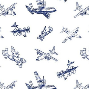 C130s in Blue // Small