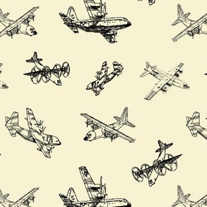 C130s on Parchment // Small