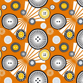 African buttons orange