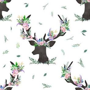 "8"" Spring Floral Deer 2018"