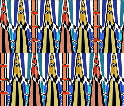 AFRICAN TWO-D  fabric by soobloo on Spoonflower - custom fabric
