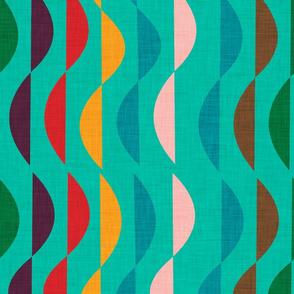 Rainbow abstract mint