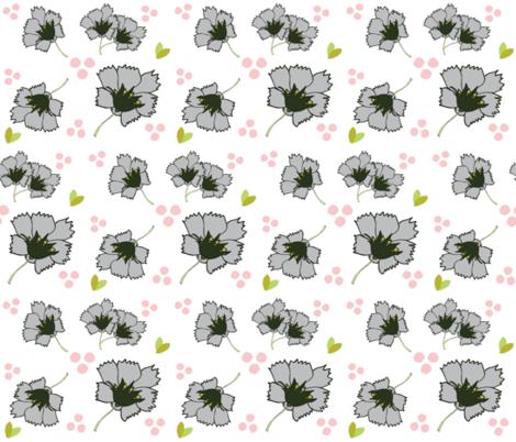 Spring blooms MED7- gray petal fabric by drapestudio on Spoonflower - custom fabric
